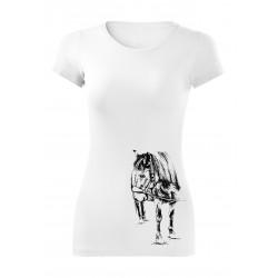 Tričko s koněm - dámské