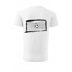 Tričko s fotbalistou a bránou