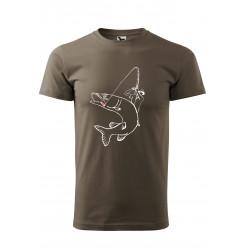 originální tričko s rybářem