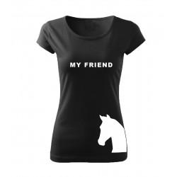 Dámské tričko s potiskem koně