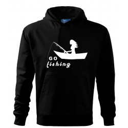 Mikina s potiskem go fishing